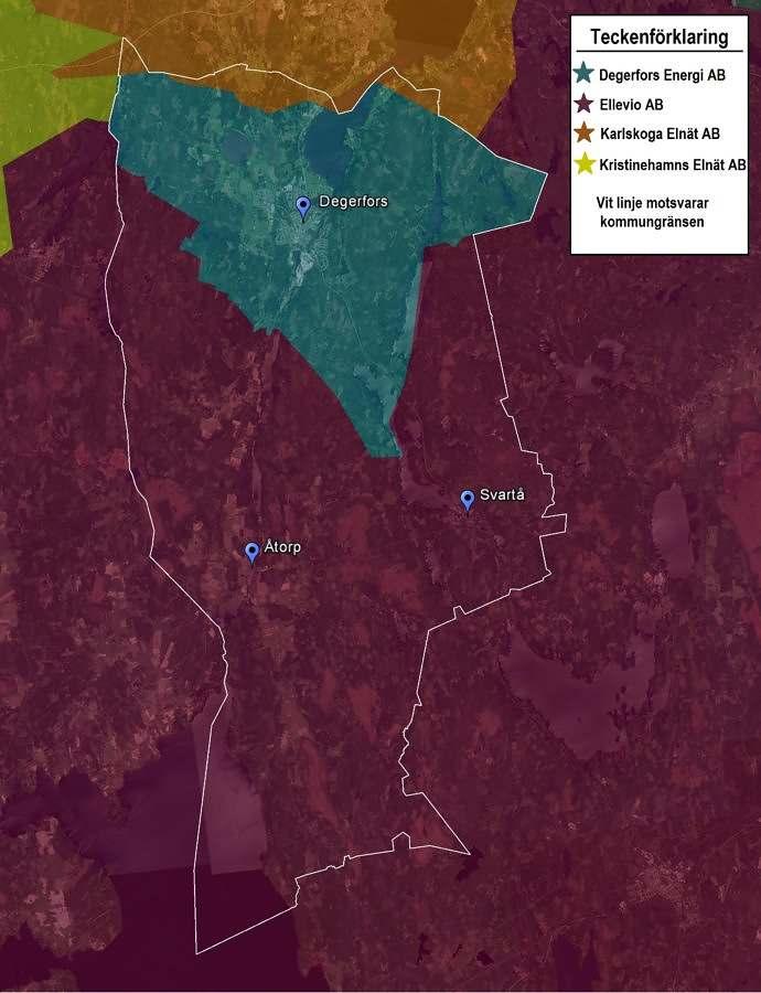 Karta över vårt nätområde